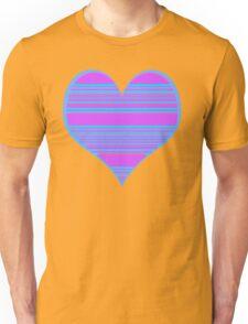 Purple and Aqua Heart Unisex T-Shirt