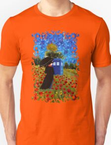 Umbrella girl with space and time traveller box art painting Unisex T-Shirt