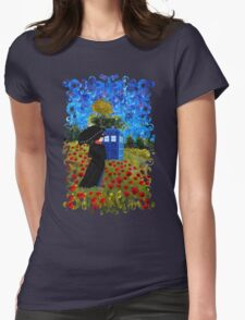 Umbrella girl with space and time traveller box art painting T-Shirt