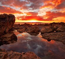 Sunset reflection @ Heybrook by Andy Fox