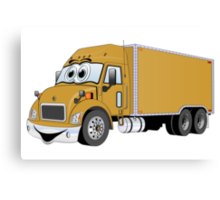 Container Truck Gold Cartoon Canvas Print