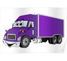Container Truck Purple Cartoon Poster