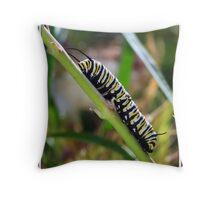 Caterpillar Workout Throw Pillow