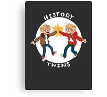 Canada and America History Twins Canvas Print