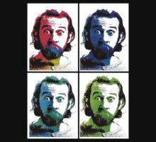 George Carlin Andy Warhol Style (Black) by YabuloStore919