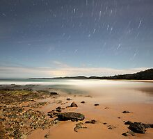 Back Beach at night by Tim Harper