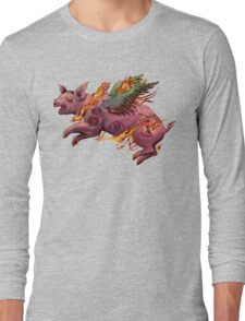 Porky Panic Long Sleeve T-Shirt