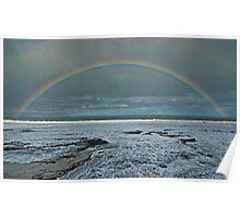 Ocean Road Rainbow Poster