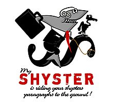 Shyster riding a paragraph VRS2 Photographic Print
