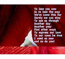Love Poem Photographic Print
