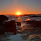 Into the Sun at Anna Bay by bazcelt