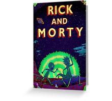 Rick and morty...Run Morty Run  Greeting Card