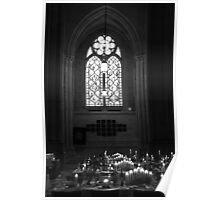Candlelit Cathedral Poster