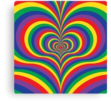 Colorful Psychedelic Love Canvas Print