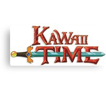 Kawaii Time Canvas Print