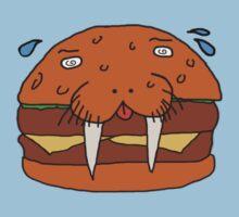 Cheeseburger Walrus by ThatOneWeirdGuy