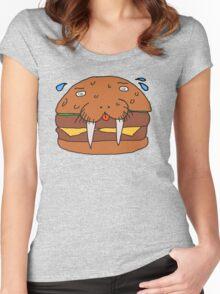 Cheeseburger Walrus Women's Fitted Scoop T-Shirt