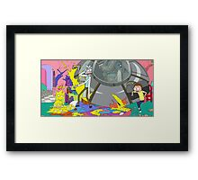 OMG MORTY YOU JUST KILLED THE SIMPSONS Framed Print