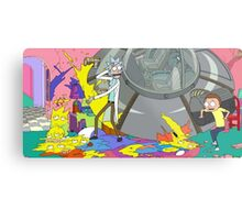OMG MORTY YOU JUST KILLED THE SIMPSONS Metal Print