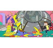 OMG MORTY YOU JUST KILLED THE SIMPSONS Photographic Print