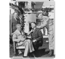 FDR Presenting Medal Of Honor To William Wilbur iPad Case/Skin