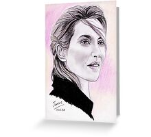 Kate Winslet portrait Greeting Card