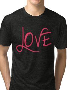LOVE in a Cool Breezy Font Tri-blend T-Shirt
