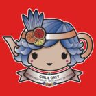 Girlie Grey Teapot by Bubble Doll