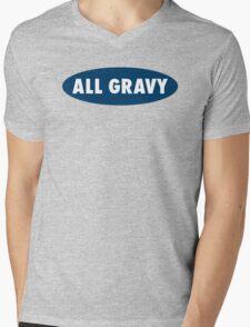 ALL GRAVY Mens V-Neck T-Shirt