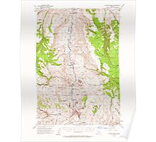 USGS Topo Map Oregon Picture 282787 1953 62500 Poster