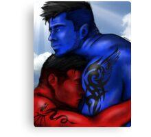 Forbidden Love Between an Angel & a Demon Canvas Print