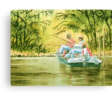 Fishing For Mullet Canvas Print