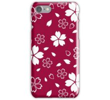 Japanese Red Kimono Fabric Pattern iPhone Case/Skin