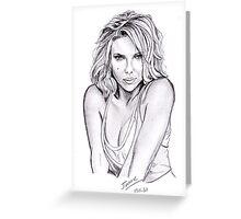 Scarlett Johansson portrait Greeting Card