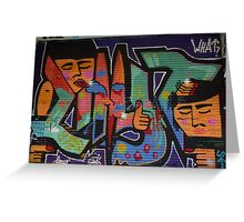 Fun graffiti Greeting Card