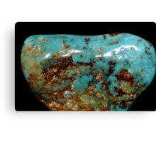 Turquoise Gemstone Close Up Canvas Print