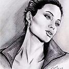 Angelina Jolie portrait by jos2507
