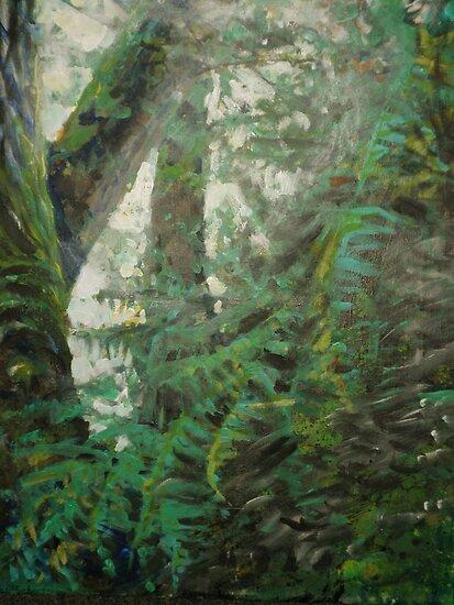 Light Through Leaves by John Fish