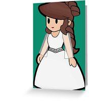 Paper Geek Princesses- Princess Leia  Greeting Card