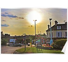 Sunset Over Commercial Square Poster