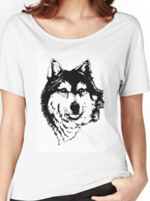 Timber wolf (Canis lupus lycaon) Sub-species of (Canis lupus) Women's Relaxed Fit T-Shirt