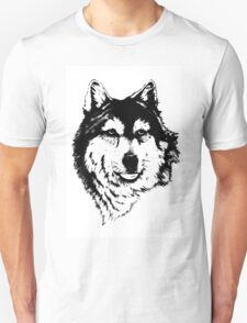 Timber wolf (Canis lupus lycaon) Sub-species of (Canis lupus) T-Shirt