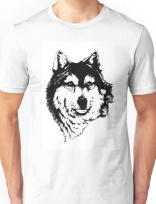 Timber wolf (Canis lupus lycaon) Sub-species of (Canis lupus) Unisex T-Shirt
