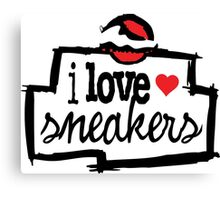 I Love Sneakers Chicago Canvas Print