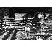 Settlers Cabin BW Photographic Print