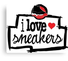 I Love Sneakers J11 Breds Canvas Print
