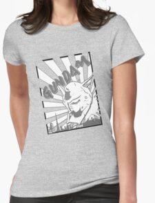 Gundam Stamp Gray Womens Fitted T-Shirt