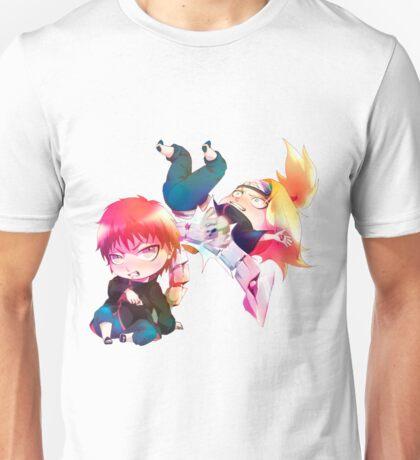 Chibi Sasori and Deidara Unisex T-Shirt