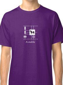 'A stable'  - Geek Slogan Tee Classic T-Shirt