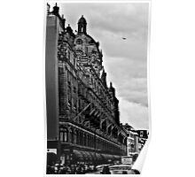 Busy Harrods in Knightsbridge, London Poster